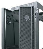 Middle Atlantic Products MW-CFRD-44 44-Space, 6-Fan Split Rear Door for WRK-SA, WRK, MRK, VRK Racks MW-CFRD-44
