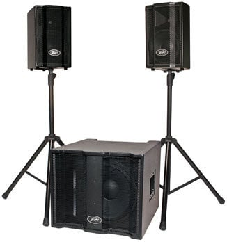 "Peavey TriFlex II Portable PA System with 2 Satellite Speakers, 1x15"" Subwoofer, Cables, Cover TRIFLEX-II"