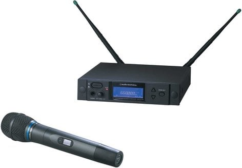 Audio-Technica AEW-4230AC Wireless Handheld Microphone System, AEW-T3300 Cardioid Condenser Mic, Band C: 541.500 to 566.375 MHz AEW-4230AC