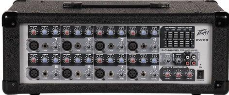 Peavey PVI8B Powered Mixer with 8 XLR Mic Ins PVI8B