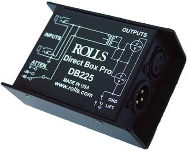 Rolls DB225 Transformer Balanced, Passive Professional Direct Box DB225