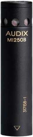 Audix M1250B-S Miniature Condenser Microphone, RFI Shielded, Supercardioid (Shotgun) M1250B-S