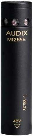 Audix M1255B-S Miniature Condenser Microphone, RFI Shielded, High-Sensitivity, Supercardioid Shotgun M1255B-S