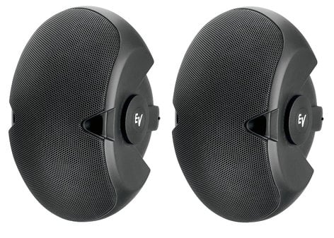 """Electro-Voice EVID 6.2 Dual 6"""" Two-Way Surface-Mount Speakers in Black 6.2"""