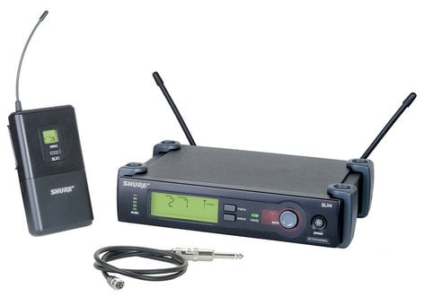 Shure SLX14 Wireless Microphone System with WA302 Instrument Cable SLX14