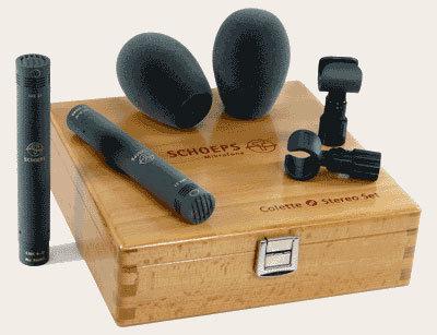 Schoeps Colette Cardioid Mikrofon-Set 2x CMC6U Preamplifiers, 2x MK4 Cardioid Capsules, 2x SG20 Stand Clamps, 2x B5D Windscreens CARDIOID-ST