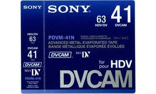 Sony PDVM41N  Cassette DVCAM Mini Digital,  41min PDVM41N