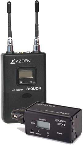 Azden 310XT  Wireless UHF On-Camera Plug-In System 310XT