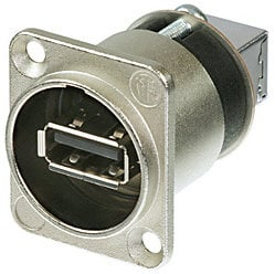 Neutrik NAUSB-W  Reversible USB Gender-Changing Adapter (Nickel Finish) NAUSB-W