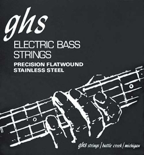 "GHS Strings M3050 .055-.105"" Precision Flatwound Stainless Steel Long Scale Plus Electric Bass Strings M3050"