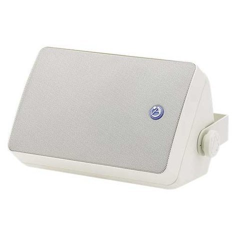 """Atlas Sound SM52T 30W, 5-1/4"""" Weather-Resistant 2-Way Speaker in White with 70.7V/100V Transformer SM52T-WH"""