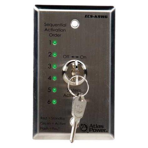 Atlas Sound ECS-KSW6  Remote Control Panel Key Switch for ECS-6RM ECS-KSW6