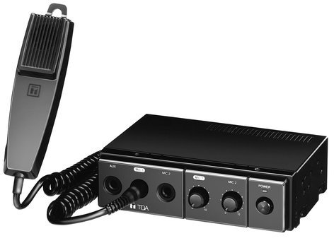 TOA CA130 Mixer/Amp, Mobile, 12VDC, 30W, With Mic CA130