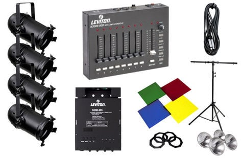 "Leviton HONSK-056 ""'Hands On' Lighting System in a Box"" Mini Par 56 Expansion Kit HONSK-056"