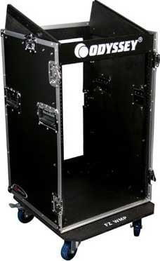 Odyssey FR1016W Portable Rack with Casters - 10 RU Top,16 RU Bottom FR1016W