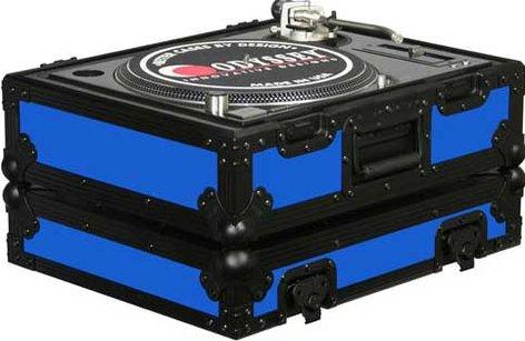 Odyssey FR1200BKBLUE  DJ CD Player/Turntable Case (Blue with Black Hardware) FR1200BKBLUE