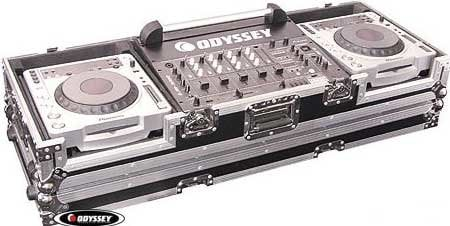 Odyssey FZ19CDJW  Large Format DJ Console Case with Wheels FZ19CDJW