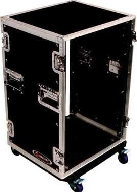 Odyssey FZAR16W  16RU Amp Rack Case with Wheels FZAR16W