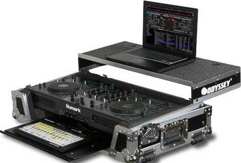 Odyssey FZGSMIXDECKGT ATA Flight Case for Numark MIXDECK DJ Controller (with Sliding Laptop Platform & Keyboard Glide Tray) FZGSMIXDECKGT
