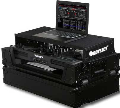 Odyssey FZGSMIXDECKGTBL  Black Label Series ATA Flight Case for Numark MIXDECK DJ Controller (with Sliding Laptop Platform, Keyboard Glide Tray, All Black Hardware) FZGSMIXDECKGTBL