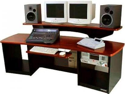 Omnirax FRC24MP Audio/Video Workstation Desk (Maple Finish, 2x 12 RU Cabinets) FRC24MP