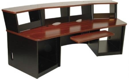 Audio Video Workstation Desk Maple Finish 40 Ru Total By Omnirax