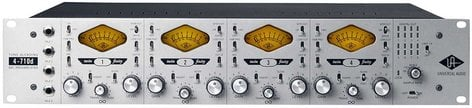 Universal Audio 4-710d 4 Channel Tone-Blending Microphone Preamplifier with Dynamics 4-710D