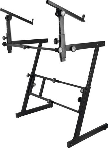 On-Stage Stands KS7365EJ Heavy-Duty Folding Z-Style Keyboard Stand with 2nd Tier KS7365EJ