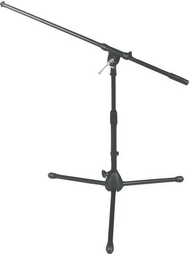 """On-Stage Stands MS7411B 17""""-27"""" Bass Drum/Amplifier Microphone Stand with 32"""" Boom and Folding Tripod Base MS7411B"""