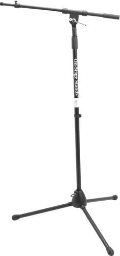 """On-Stage Stands MS7701TB 36""""-63"""" Microphone Stand with 19""""-33""""Telescoping Boom and Euro-Style Tripod Base MS7701TB"""