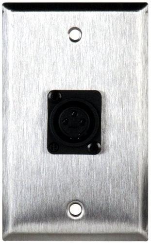 TecNec WPL-1121  Single Gang Wall Plate With 1 NC3FPP Connector WPL-1121