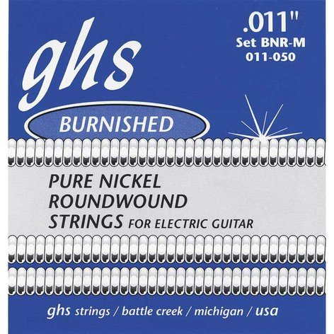 GHS Strings BNR-M Medium Burnished Nickel Electric Guitar Strings BNR-M