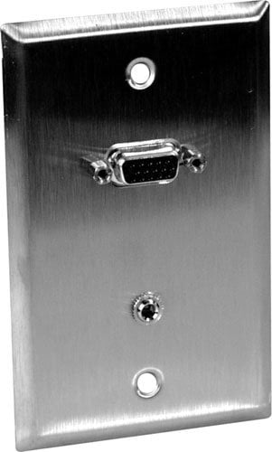 """TecNec WPL1154FT  Wall Plate, 1/8"""" and VGA  WPL1154FT"""