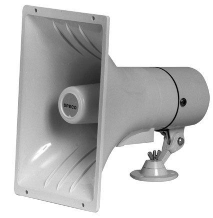 """Speco Technologies SPC40RT 6.5"""" 32W Horn-Style Speaker with 25/70V Transformer SPC40RT"""