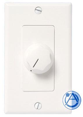 Atlas Sound AT100D Speaker Attenuator, 100w 70v, White / Ivory AT100D