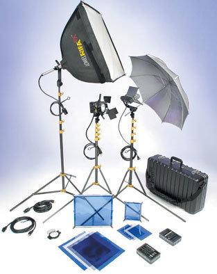 Lowel Light Mfg DVC-92LB DV Core 500 Kit w/Soft Case DVC-92LB