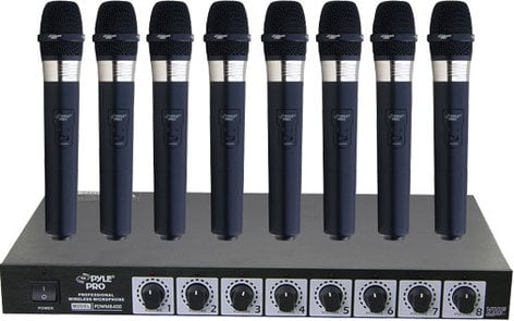 Pyle Pro PDWM8400 8 Handheld Microphone VHF Wireless System PDWM8400