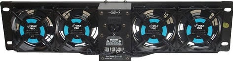 "Pyle Pro PFN41 19"" Rack Mount 4-Fan System with Display PFN41"