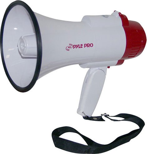 Pyle Pro PMP35R 30W Megaphone with Siren, Voice Recorder PMP35R