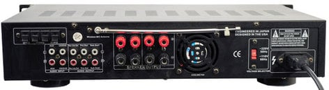 Pyle Pro PWMA3003T 3000W Hybrid Preamplifier with AM/FM Tuner, Dual VHF High-Band Wireless Mic, USB PWMA3003T