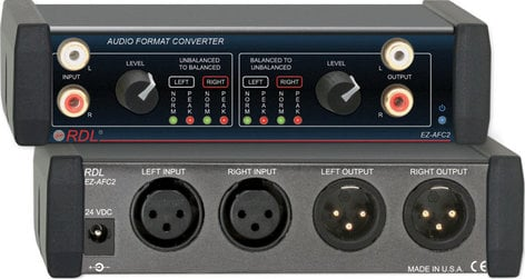 Radio Design Labs EZ-AFC2 Stereo Balanced to Unbalanced Audio Format Converter EZ-AFC2