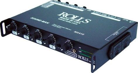 Rolls MX410-ROLLS 4-Channel Field Mixer with LED Meters MX410-ROLLS