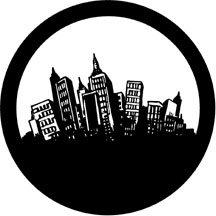 Rosco 71027 Fun City Pattern Steel Gobo 71027