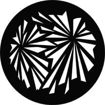 Rosco Laboratories 71028 Geometric Explosion Patterned Steel Gobo 71028