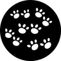Rosco Laboratories 77647 Steel Gobo with Paws Pattern 77647