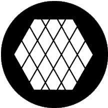 """Rosco Laboratories 78044 """"Large Diamonds"""" Gobo 78044"""