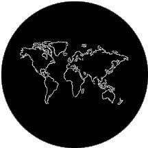 """Rosco 78086 """"The World Outline"""" Gobo 78086"""