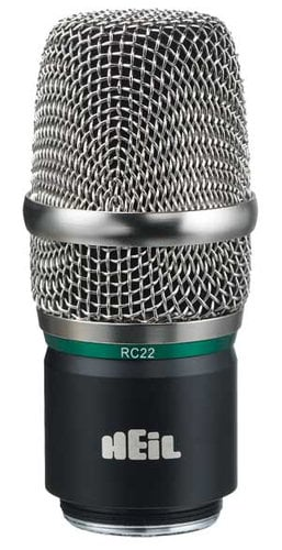 Heil Sound RC 22 PR 22 Wireless Microphone Capsule for use with Shure, Lectrosonics, and Line 6 Transmitters RC-22