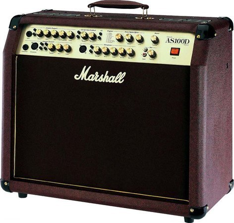 """Marshall Amplification AS100D 2-Ch 2x50W 2x8"""" Stereo Acoustic Guitar Amplifier AS100D"""