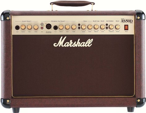 """Marshall Amplification AS50D 2-Ch 50W 2x8"""" Acoustic Guitar Amplifier AS50D"""